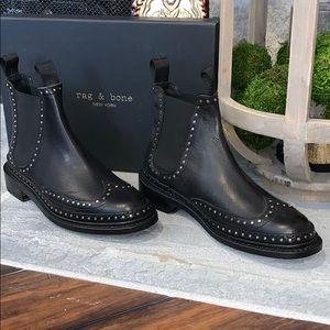 New! Rag & Bone Benson Boot - Black Studded